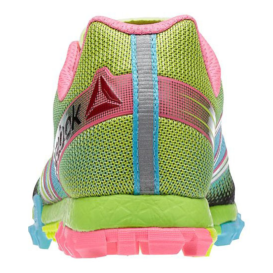 REEBOK WOMEN\'S RUNNING ALL TERRAIN SUPER Solar Yellow / Neon Blue / Pink / Solar Green