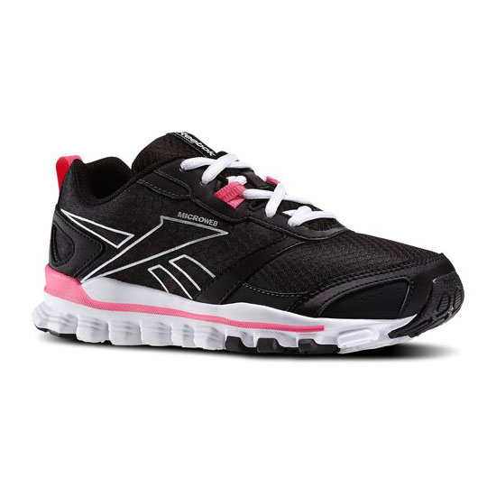 REEBOK WOMEN\'S RUNNING HEXAFFECT RUN Black / Gravel / Solar Pink / Silver Met / White
