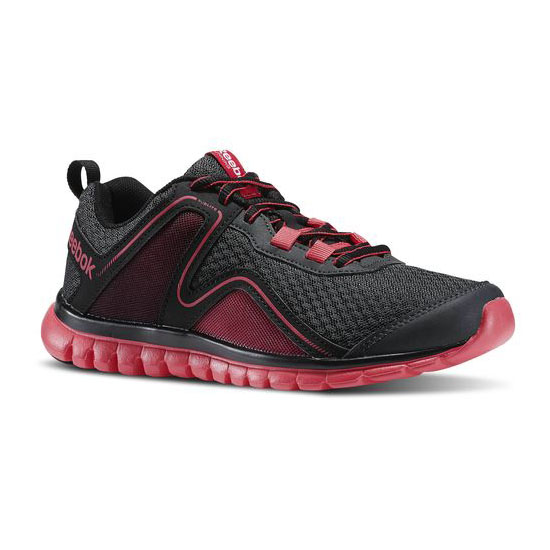 REEBOK WOMEN'S RUNNING SUBLITE ESCAPE 2.0  Gravel / Black / Blazing Pink / Solar Pink