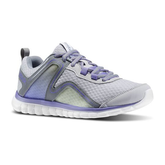 REEBOK WOMEN'S RUNNING SUBLITE ESCAPE 2.0 Steel / Flat Grey / Lush Orchid / Citrus Glow