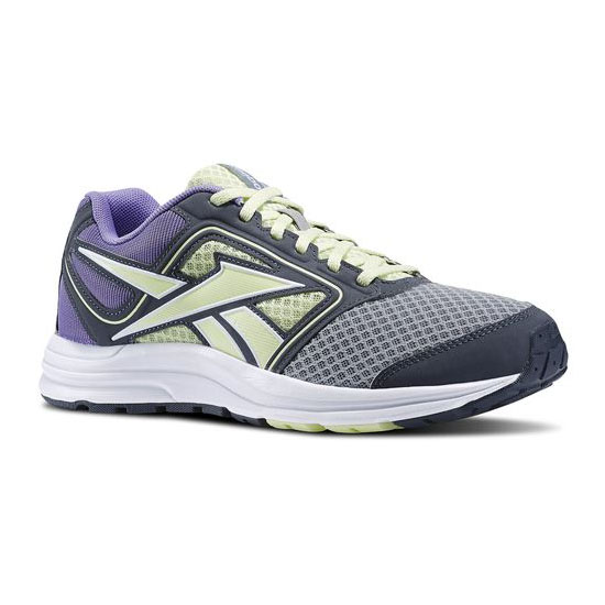 REEBOK WOMEN'S RUNNING ZONE CRUSHRUN Flat Grey / Citrus Glow / Lush Orchid / Graphite / White