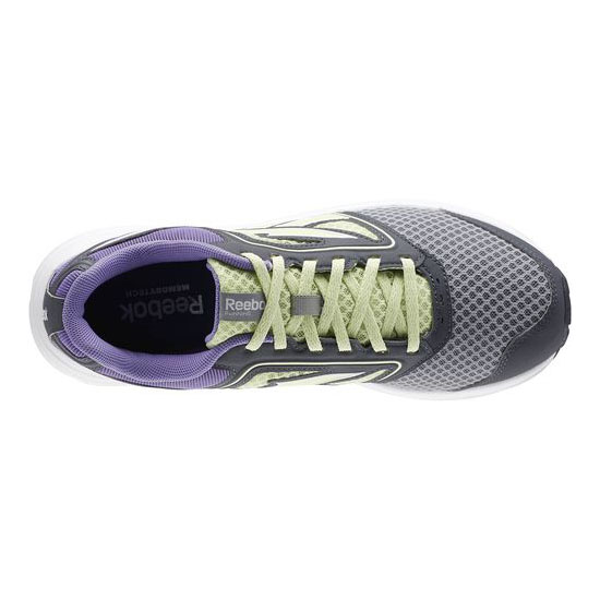 REEBOK WOMEN\'S RUNNING ZONE CRUSHRUN Flat Grey / Citrus Glow / Lush Orchid / Graphite / White