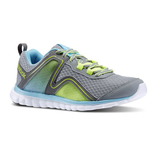 REEBOK WOMEN\'S RUNNING SUBLITE ESCAPE 2.0 Flat Grey / Medium Grey / Neon Blue / Solar Yellow
