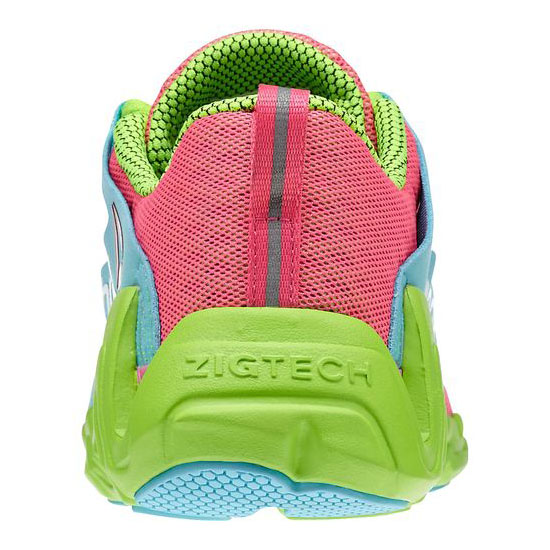 REEBOK WOMEN\'S RUNNING ZIGTECH BIG & FAST  Pink / Neon Blue / Solar Green / White