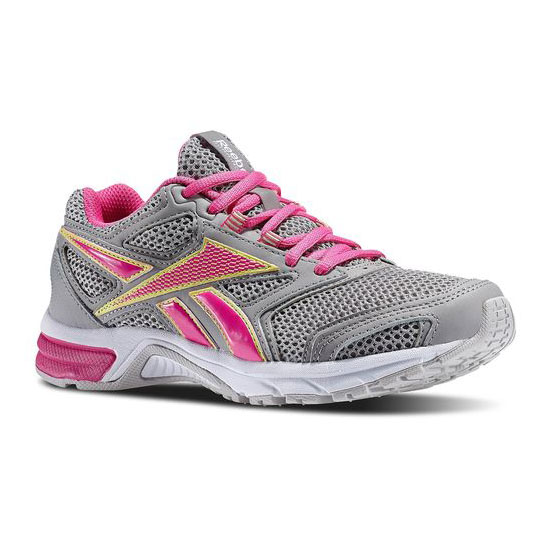 REEBOK WOMEN'S RUNNING SOUTHRANGE RUN L  Tin Grey / Dynamic Pink / Lemon Zest / Flat Grey / White