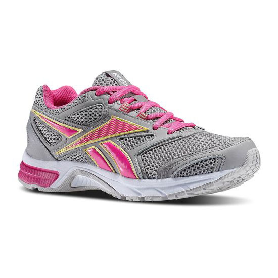 REEBOK WOMEN'S RUNNING SOUTHRANGE RUN L WIDE D Tin Grey / Dynamic Pink / Lemon Zest / Flat Grey / White