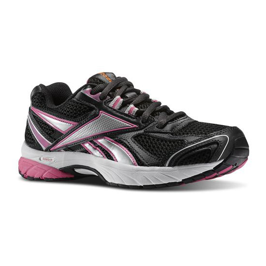 REEBOK WOMEN'S RUNNING PHEEHAN RUN Gravel / Silver / Optimal Pink / Neon Orange