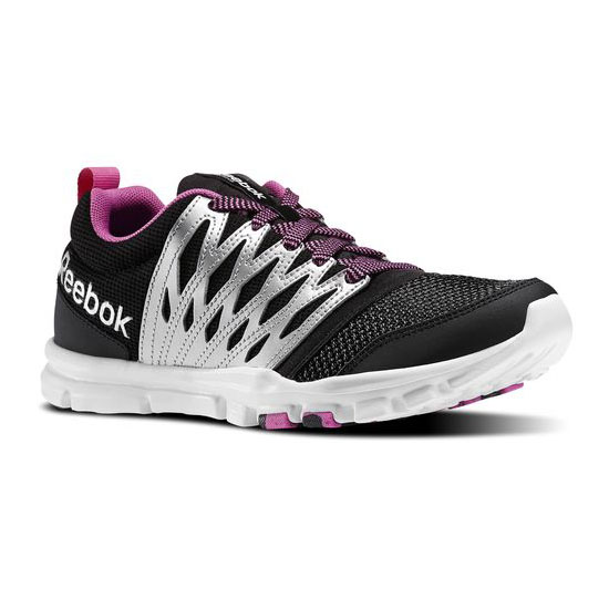 REEBOK WOMEN'S TRAINING YOURFLEX TRAINETTE RS 5.0L  Black / Matte Silver / Ultraberry / White