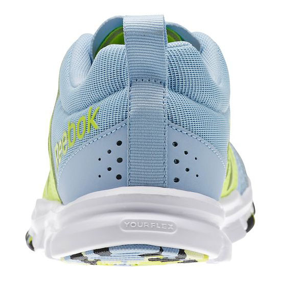 REEBOK WOMEN\'S TRAINING YOURFLEX TRAINETTE 5.0L WOW Denim Glow / Solar Yellow / White