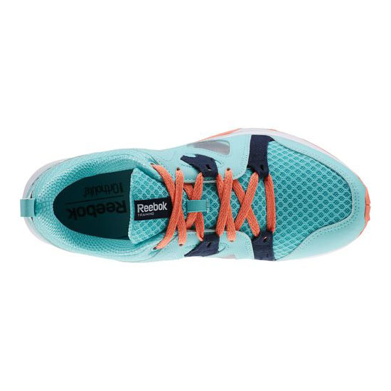REEBOK WOMEN\'S TRAINING TRAIN FAST XT  Crystal Blue / Faux Indigo / Coral / White