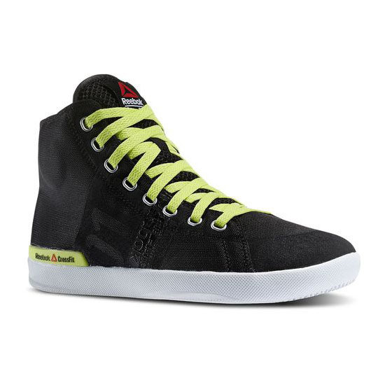 REEBOK WOMEN\'S CROSSFIT REEBOK CROSSFIT LITE TR Black / High Vis Green / White