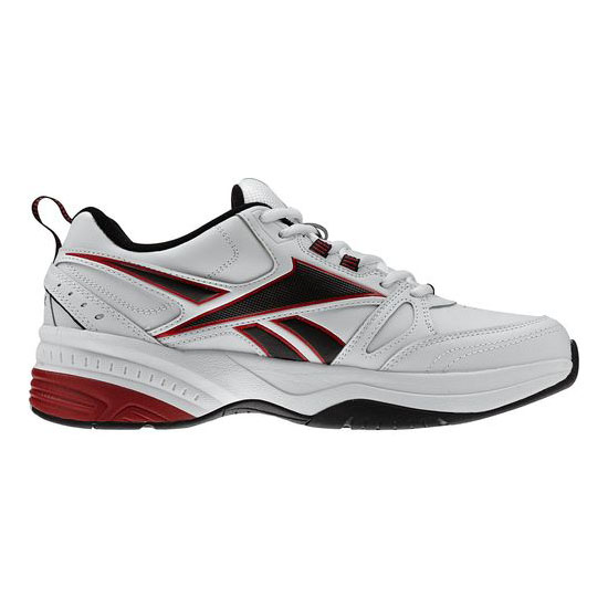 REEBOK MEN\'S WALKING REEBOK ROYAL TRAINER MT White / Black / Excellent Red