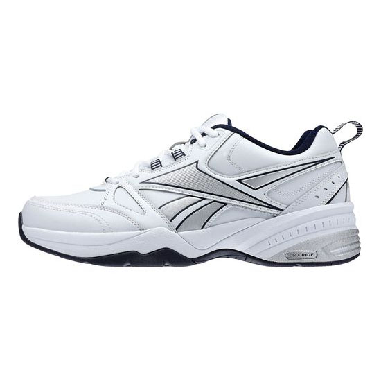 REEBOK MEN\'S WALKING REEBOK ROYAL TRAINER 4E White / Reebok Navy / Pure Silver