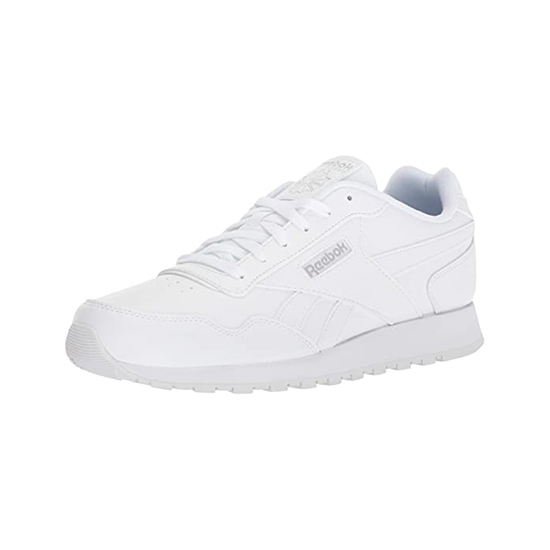 Reebok Womens Classic Leather Harman Run Shoes White/Steel Outlet