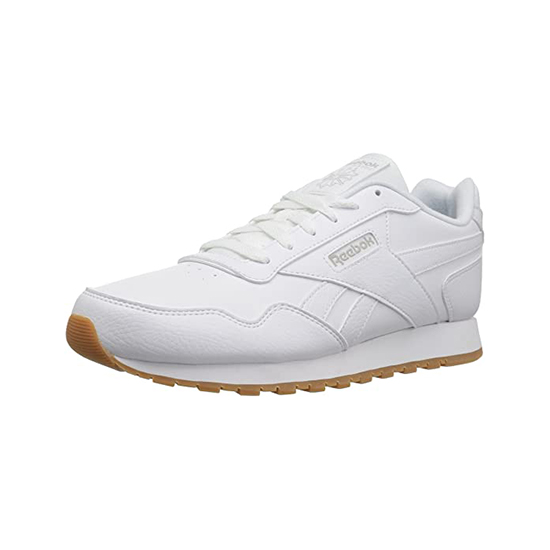 Reebok Womens Classic Leather Harman Run Shoes White/Steel/Gum Outlet