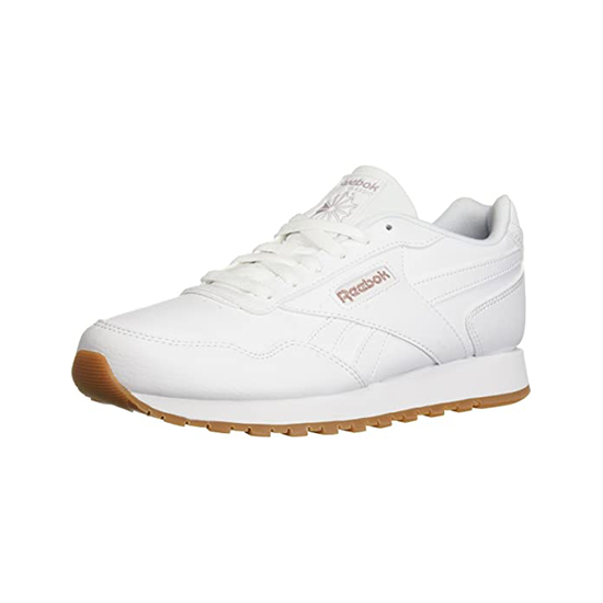Reebok Womens Classic Leather Harman Run Shoes White/Rose Gold/Gum Outlet