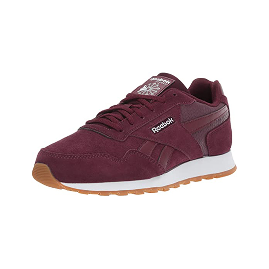 Reebok Womens Classic Leather Harman Run Shoes Maroon/White/Gum Outlet