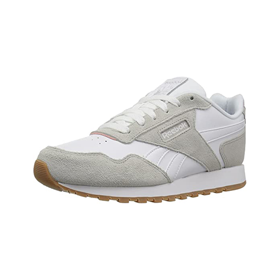 Reebok Womens Classic Leather Harman Run Shoes Steel/White/Shell Pink/Gum Outlet